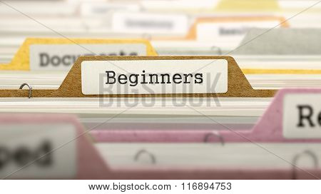 Folder in Catalog Marked as Beginners.