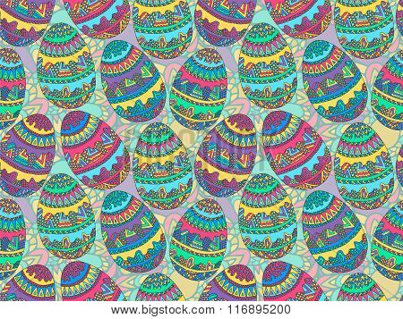 Easter Zentangle Eggs Ethnic Native Abstract Pattern 4