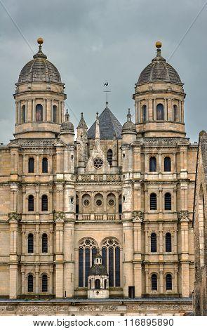 Detail of facade of the Romanesque church