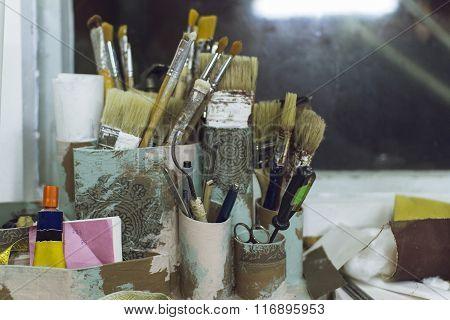 Working Corner Of The Artist