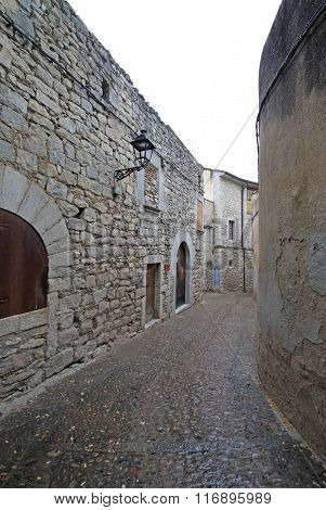Girona, Spain - August 30, 2012: Jewish Quarter In Girona. Catalonia. Spain