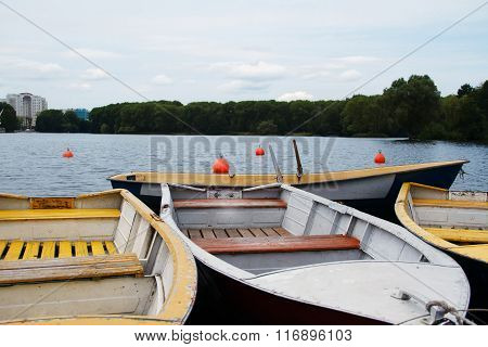 The Boat Mooring On The Lake