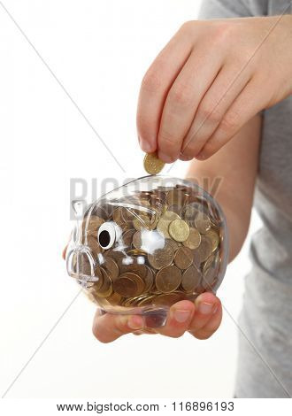Hand Feeding Piggy Bank
