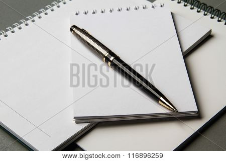 The Backgrund Image Notebooks With The Ball Pen