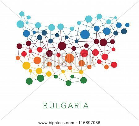 dotted texture Bulgaria vector background
