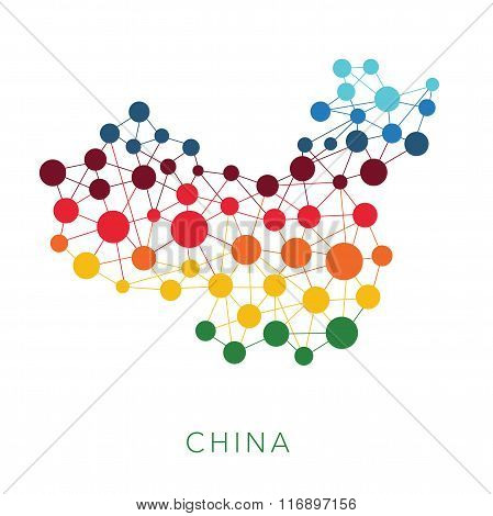 dotted texture China vector background
