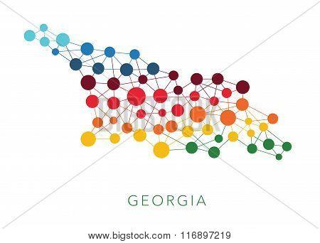 dotted texture Georgia vector background