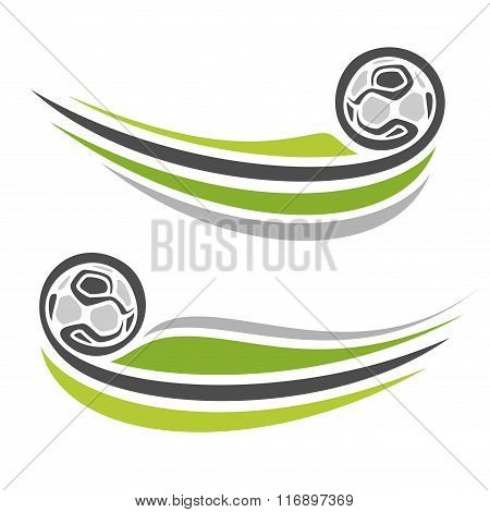 Abstract illustrations on the theme of football