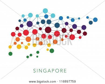 dotted texture Singapore vector background