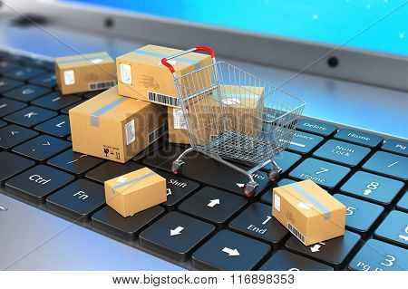 Shipping, Delivery And Logistics Technology Business Industrial Concept. Macro View Of Heap Of Stack