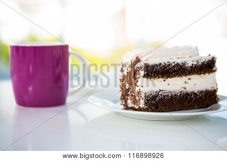 Pastry and drink on a table