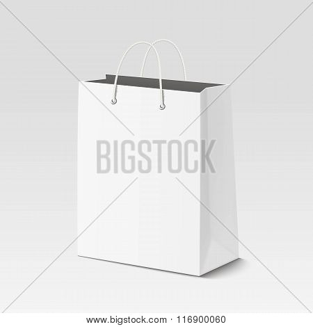 Empty Shopping Paper Bag For Advertising And Branding