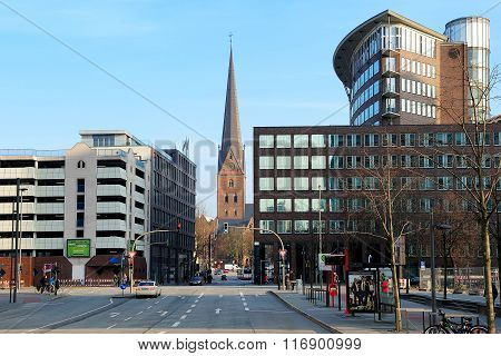 St. Peter's Church, View From Dovenfleet, Hamburg, Germany