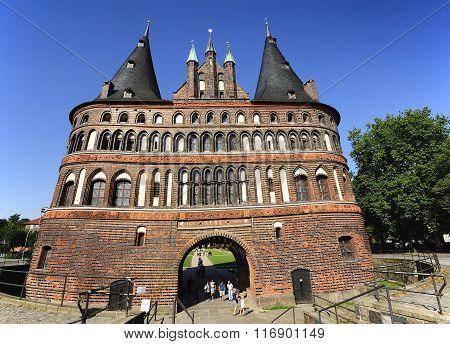 The Holsten Gate (holstentor), Lubeck, Germany
