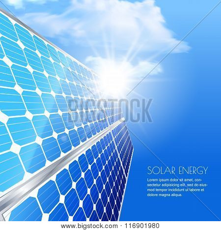 Alternative Renewable Solar Energy And Environmental Concept.