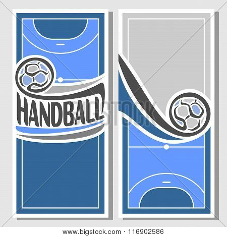 Vector images for text on the theme of handball