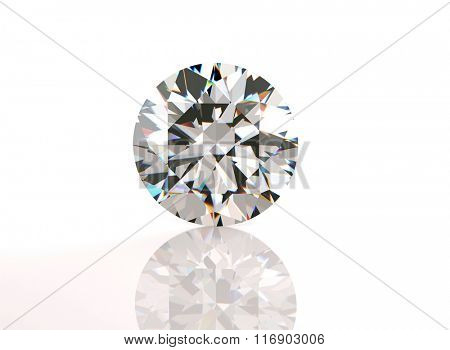 Round shape Diamond . Fashion Jewelry background. Gemstone