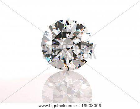 Round shape Diamond . Fashion Jewelry background. Gemstone