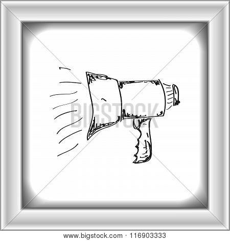 Simple Doodle Of A Megaphone