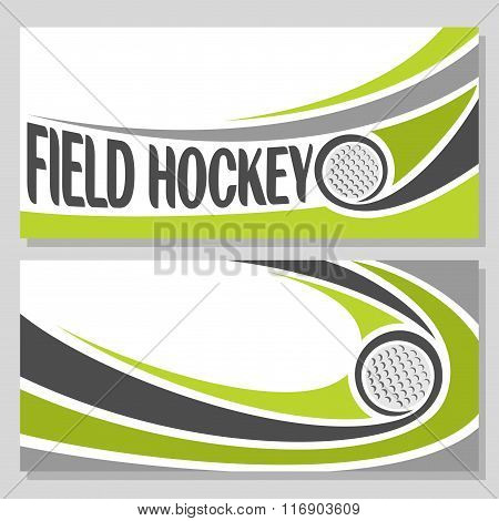 Background images for text on the theme of field hockey