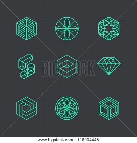 Vector Abstract Modern Logo Design Templates