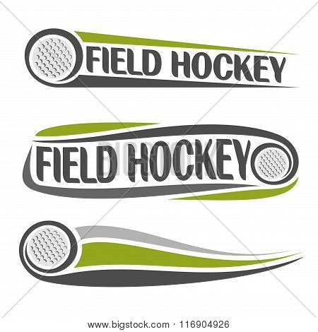 Abstract images on the field hockey theme