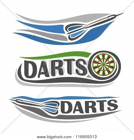A set of abstract images on the darts theme