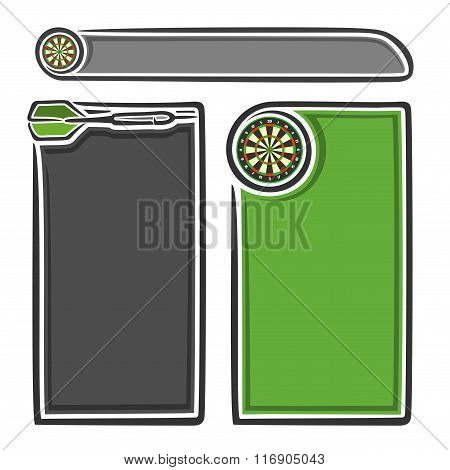 Vector images for text on the theme of darts
