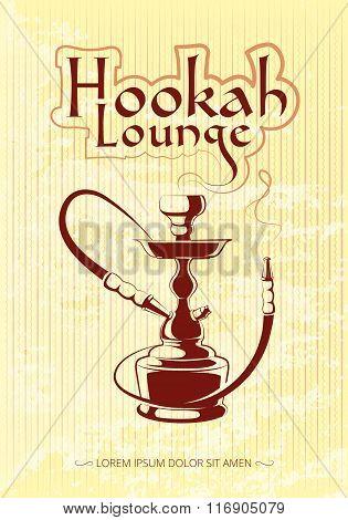 Hookah bar vector poster