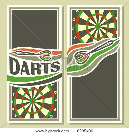 Background images for text on the theme of darts