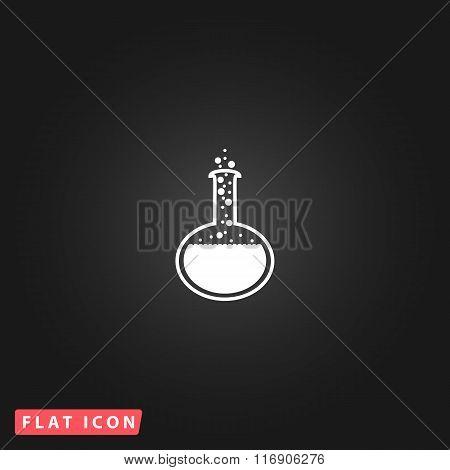 Vector Set of Chemistry bulb simple pictogram.