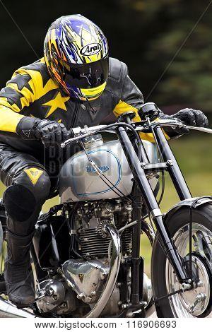 Triumph closeup