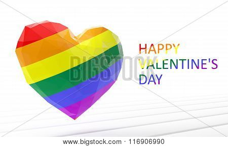 Valentines Day. Heart. Homosexual. 3D Render Illustration