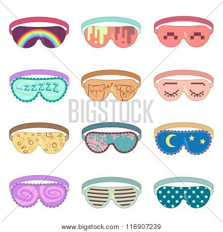 Sleeping mask vector set