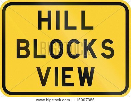 Road Sign Used In The Us State Of Texas - Hill Blocks View