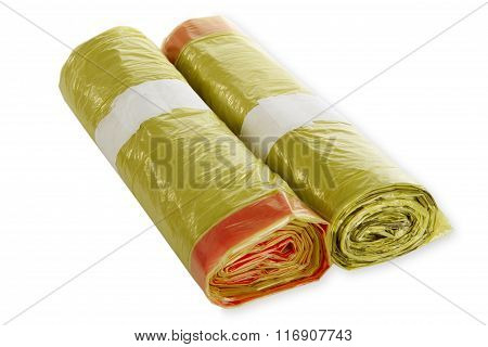 Rolls Of Yellow Trash Bags