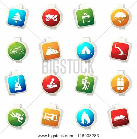 Active recreation icons