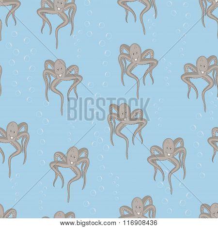 Funny sea octopus