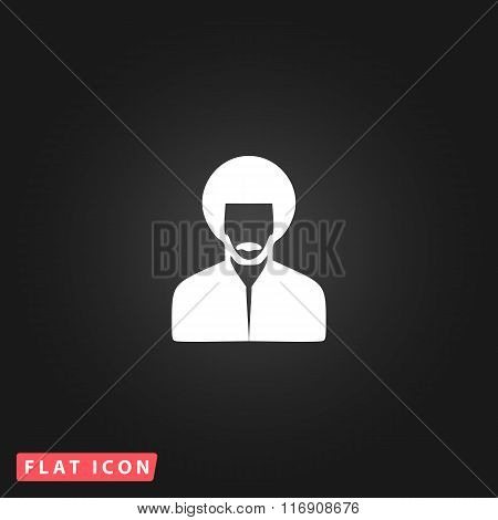 rastafarian man flat icon