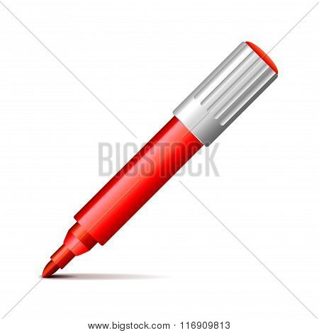 Felt Pen Isolated On White Vector