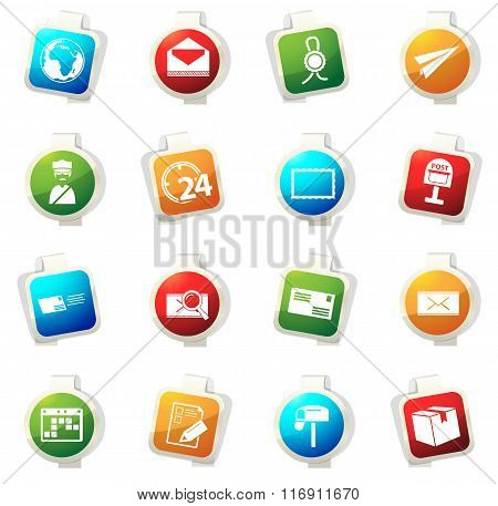 Post service icons set