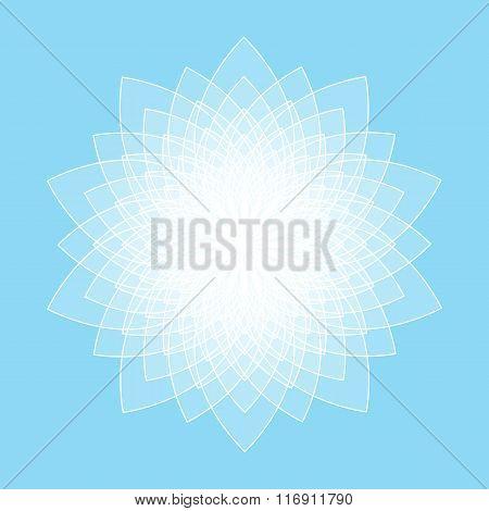 Abstract lotus symbol