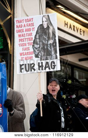 Anti fur demonstrator