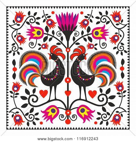 Folk roosters