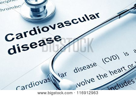 Paper with words Cardiovascular diseases.