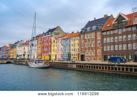 Copenhagen Nyhavn Canal And District