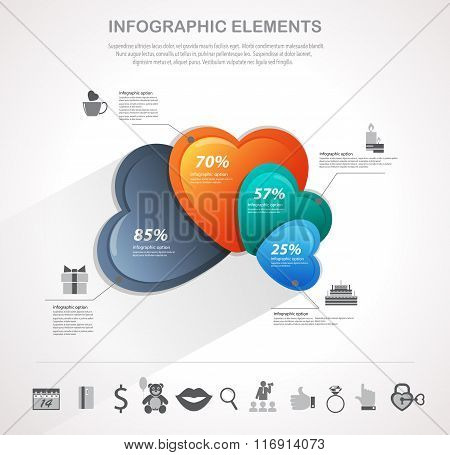 Valentines Day Hearts Infographics