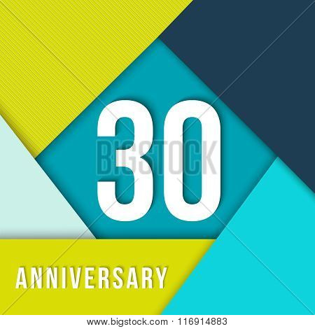 30 Year Anniversary Material Design Template