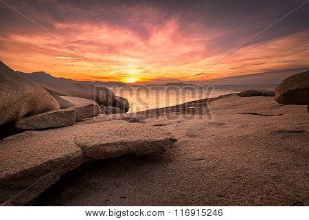 Sunset Over Calvi In Corsica