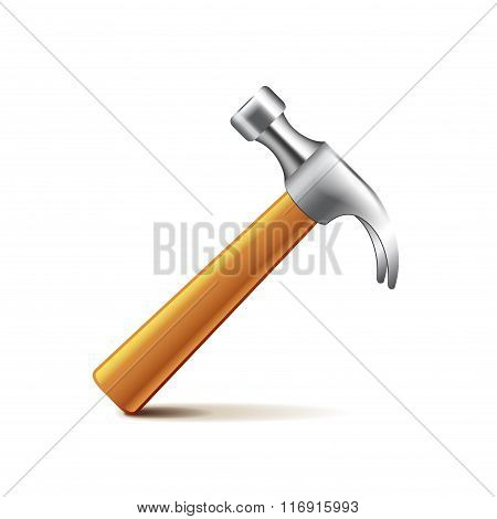 Hammer Isolated On White Vector
